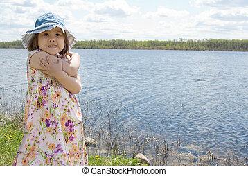Child At The Lake