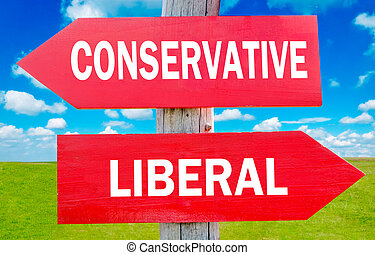 Conservative or liberal choice showing strategy change or...