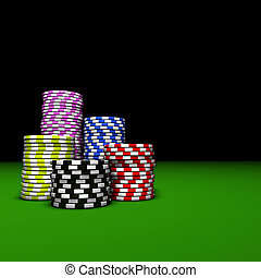 Poker Casino Chips Stacks