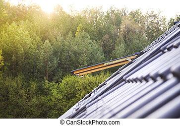 claraboya, ventana, techo
