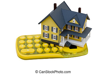 Mortgage Calculator - A model house sitting with a...