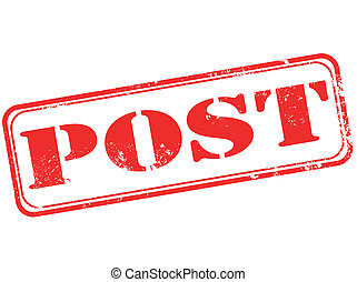 post stamp - post grunge stamp with on vector illustration