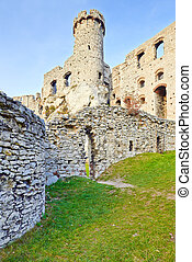 Ruins of The Ogrodzieniec Castle in Poland.