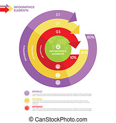 Business Infographics circle with arrows