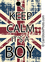 calm boy - keep calm its aboy, illustration vector format