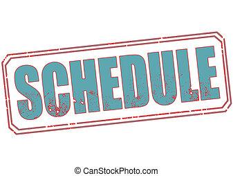 schedule stamp