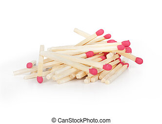 Group of matchstick on white