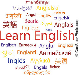 Learning English, different languages Vector