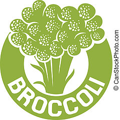 broccoli symbol, broccoli label