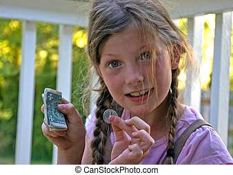 8 Year Old Girl With Money Allowance - This little 8 year...