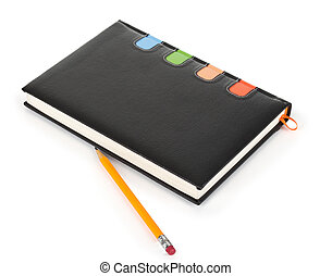 Lead pencil and notebook