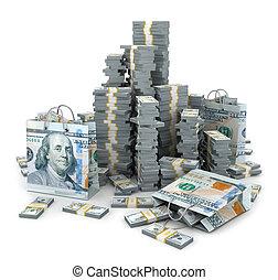 3d illustration of dollars