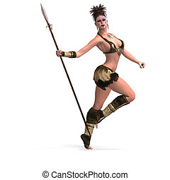Sexy female fantasy Barbarian - Female Fantasy Barbarian...