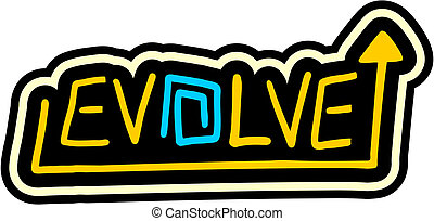 Evolve sticker - creative design of evolve sticker
