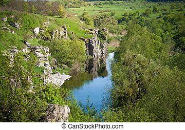 landscape of ukrainian canyon - Beautiful landscape of...