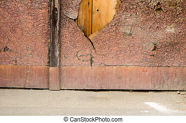 Cracky wooden surface. - Old chappy surface of painted...