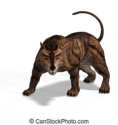 dinosaur - Dangerous dinosaur Andrewsarchus With Clipping...
