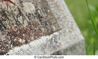 Soviet Soldier WWII Tombstone - Focusing on soviet soldier...