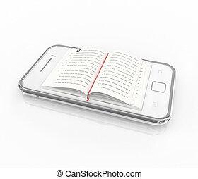 e-book 3d concept