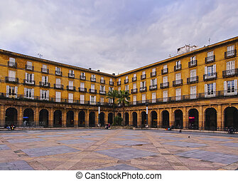 Plaza Nueva in Bilbao - Plaza Nueva - square on the Old Town...