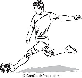 football soccer player illustration