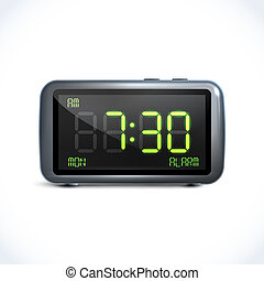 Digital alarm clock - Realistic digital alarm clock with lcd...