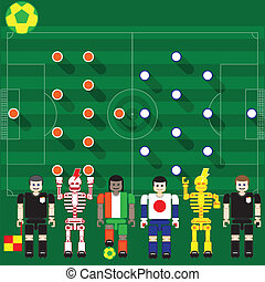 Ivory Coast vs Japan - Group stage match The opposite of...