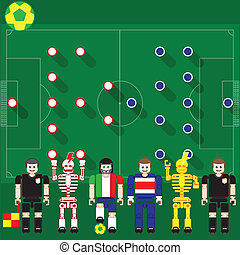 Italy vs Costa Rica - Group stage match The opposite of...