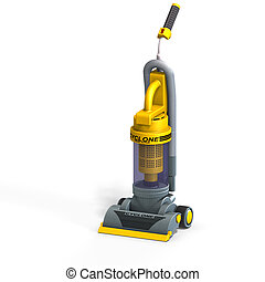 vacuum cleaner - rendering of a vac With Clipping Path over...