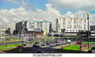 słoneczny, Prospekt, święty, Petersburg, sąsiedztwo,...