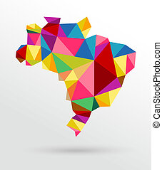 Abstract Brazil map - Colorful abstract Brazil map. EPS10...