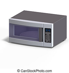 Mivrowave - rendering of a microwave With Clipping Path over...