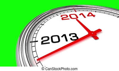 New Year 2014 Clock (Green Screen)