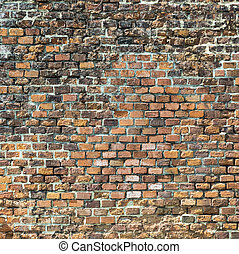 harmonic red brick wall - harmonic old historic red brick...