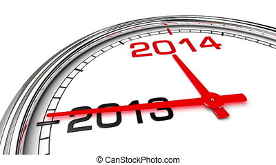 New Year 2014 Clock (with Matte) - Clock countdown from year...