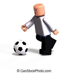Toy Boy plays soccer
