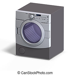 Dryer - rendering of a dryer With Clipping Path over white
