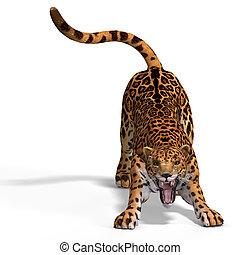 grande, gato, onça pintada