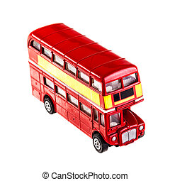 London bus - Classic London Bus model isolated over a white...