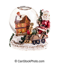 Cristmas Snow globe - a christmas themed snow globe with a...
