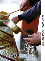 Shinto Shrine Purification Ladles,Ladles used for...