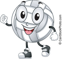 Volleyball Mascot - Mascot Illustration of a Volleyball with...