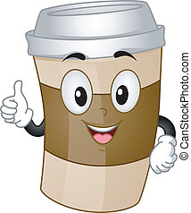 Coffee Cup Mascot - Mascot Illustration of a Cup of Coffee...