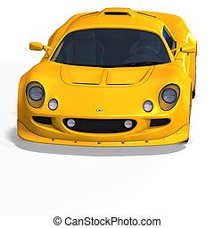 yellow fantasy racing car - racing and rallye car fantasy...