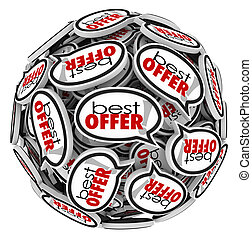 Best Offer Speech Bubbles Highest Bid Price Buyer - Best...