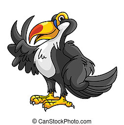 Toucan Bird Funny Cartoon