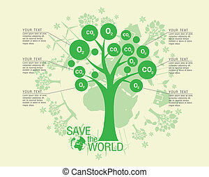 Ecological and save the world greet - Ecological and save...