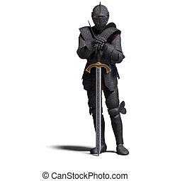escuro, cavaleiro