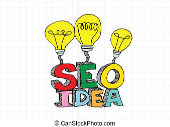 Bulb SEO Idea Search Engine Optimization concept design