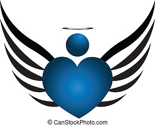 Blue Angel logo - Blue Angel icon design vector illustration
